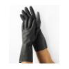 黑色 防强酸 耐强碱 抗化学手套 耐油 乳胶 防化手套