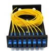 8口SC单模满配桌面式光纤终端盒光缆尾纤通用型熔接盒