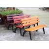 户外园林公园椅子实木长条椅铸铁防腐木靠背椅长椅凳子室外休闲椅