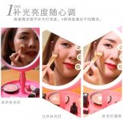 亚马逊wish速卖通爆款智能LED多功能化妆镜厂家批发