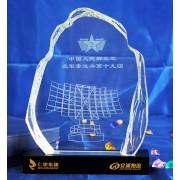 香港水晶纪念奖牌,中铁集团奖杯,个性创意奖杯定做