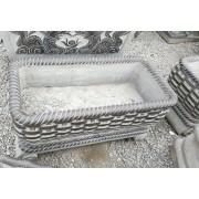 石雕花盆,石缸 大理石鱼缸 欧式仿古石雕摆件 曲阳厂