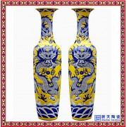 批发景德镇陶瓷大花瓶 青花瓷万里长城大花瓶
