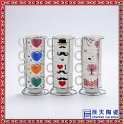 陶瓷咖啡杯批发  校庆纪念茶杯订制
