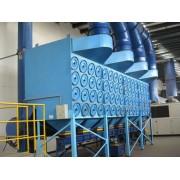 收集喷砂房金属粉尘14000立方滤筒除尘器制造