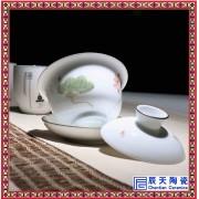 定做陶瓷盖碗 景德镇陶瓷品茶盖碗 中式复古茶具
