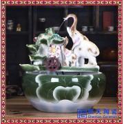 转运生财风水轮摆件 景德镇瓷器工艺品 客厅装饰摆件批发