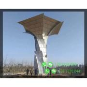 标志性建筑 铝板双曲拼装 弧形单板 2.5厚双弧铝单板安装