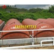 沼气池封罩、浮罩价格 红泥膜材沼气池半膜