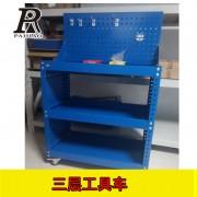 扬州3层钢制手推车万向轮附刹车工具车作业车可定制