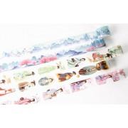 厂家来图定制中国风古装美丽少女手工DIY装饰手帐胶带