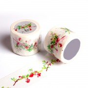 厂家来图定制特殊油墨自然植物火棘手工DIY装饰手帐胶带