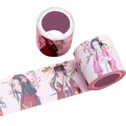 厂家来图定制烫金中国古装俏丽少女手工DIY装饰手帐胶带