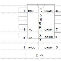 PWM控制恒压驱动电源管理芯片SM7075P替换亚成微ic