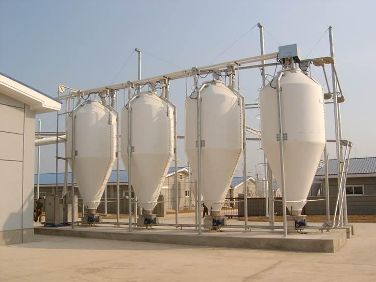 玻璃钢料塔养殖用料塔猪用全自动玻璃钢料塔
