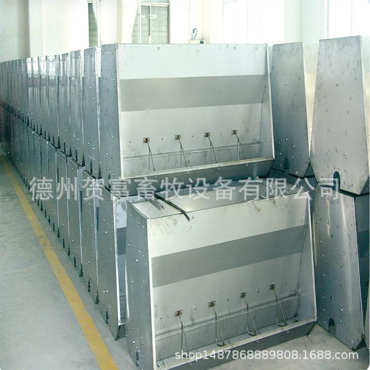贺富养殖设备猪用食槽双面不锈钢食槽养猪场猪用水泥猪料槽