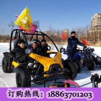 在雪地里尽情的奔跑 雪地卡丁车 四轮越野沙滩车 大型卡丁车