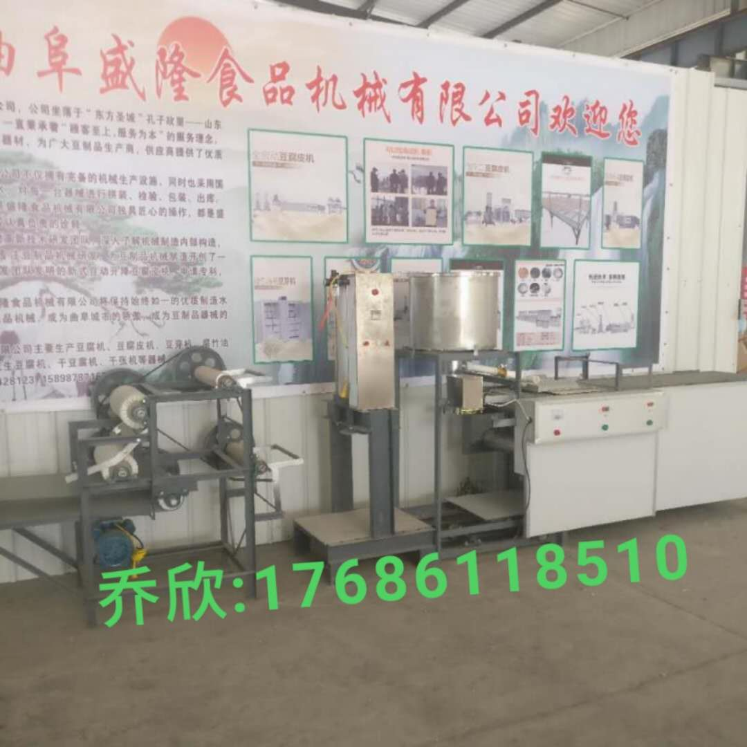 山东盛隆家用小型多功能作坊豆腐皮机厂家销售