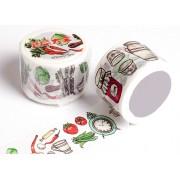 来图定制美食世界厨房制作篇手工DIY装饰手帐胶带