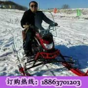 琼枝玉叶 粉装玉砌 皓然一色雪地摩托车 大型履带式摩托