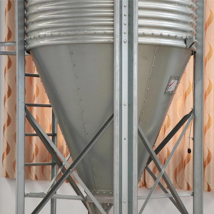 贺富畜牧自动化养殖大容量镀锌板料塔