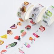 来图定制吃货美食梦系列手工DIY装饰手帐胶带