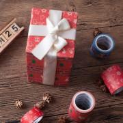 来图定制喜庆圣诞节礼物系列手工DIY装饰手帐胶带
