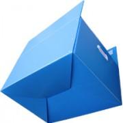 厂家直销深圳德霖__dlzdx010蓝色中空板折叠箱
