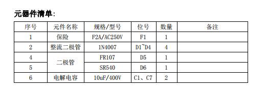 DK912元器件清单