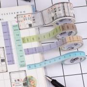 来图定制小清新星期、时间、直尺学生用手工DIY装饰手帐胶带