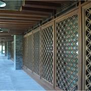 屏风隔断 黑钛雕花镜面金属花格酒店大堂定制不锈钢隔断玄关工程