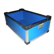 厂家直销深圳德霖__zkbzzx006蓝色中空板周转箱