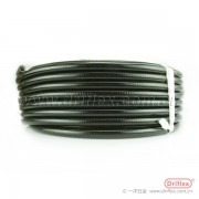 抗压型金属软管,里层加棉线抗冻抗压抗拉金属穿线管,包塑平管