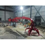 工程机械抓木机 旋转木材起重机固定式抓钢机