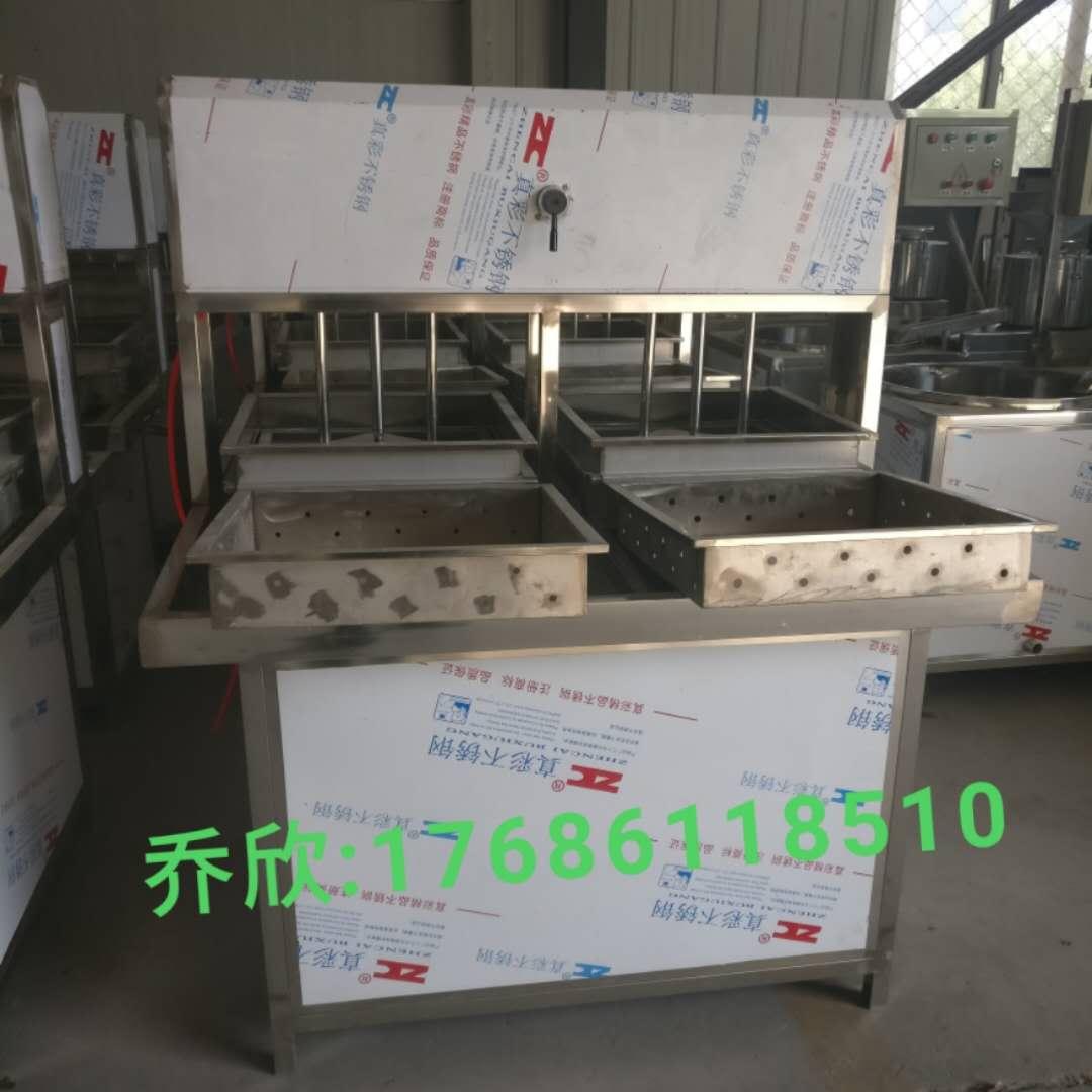 加工豆腐的机器视频 山东产不锈钢豆腐机生产线7折促销