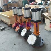 气动搪瓷下展式放料阀 HG65-89-2