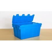 苏州迅盛斜插箱防尘物流箱370高塑料箱厂家定制