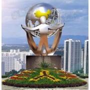 白钢雕塑@大安白钢景观艺术造型雕塑生产厂家