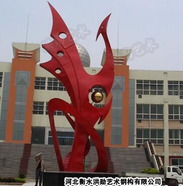 白钢雕塑@佳木斯白钢景观艺术造型雕塑生产厂家