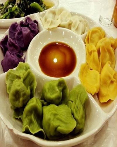 彩色饺子现场时间教学技术