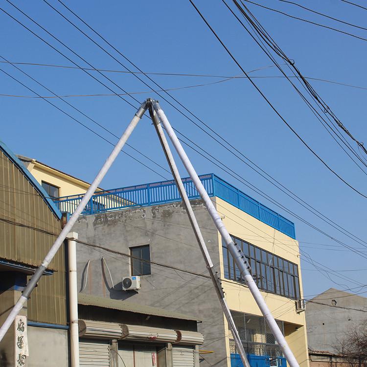 手摇立杆机8~15米三角架立杆  人字抱杆电线杆起杆机
