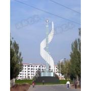 白钢雕塑@双鸭山白钢景观艺术造型雕塑生产厂家