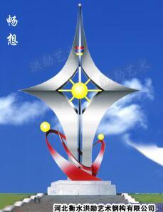 白钢雕塑@鸡西白钢景观艺术造型雕塑生产厂家