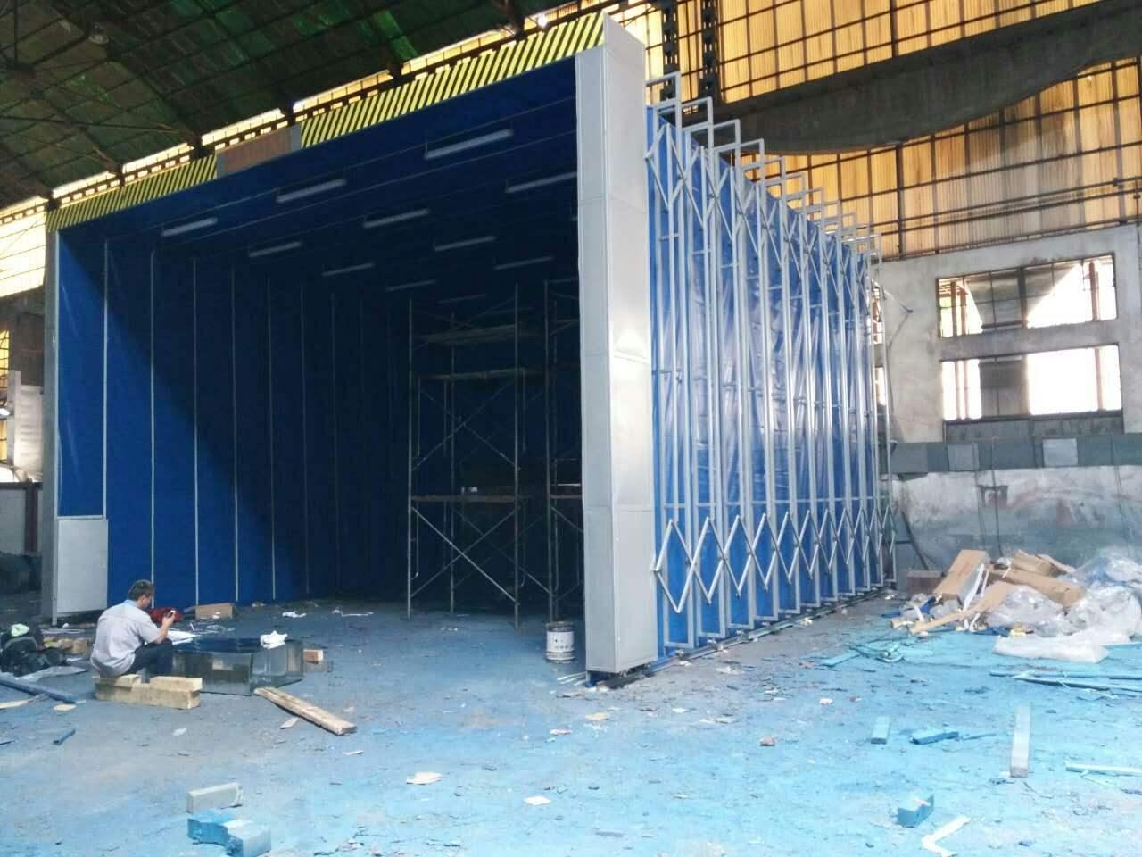 安徽芜湖防雨型伸缩房 折叠式喷漆房 工厂制造商
