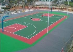 篮球室内地面铺设运动地胶 篮球场器材配置安装