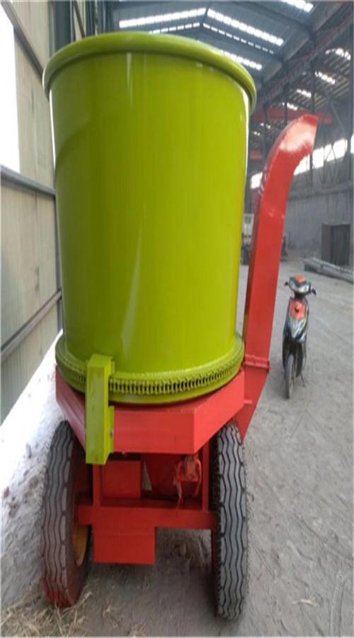 日粮制备粉碎机 大型旋转式粉草机 圆盘秸秆粉碎机