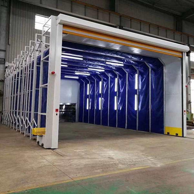 浙江移动式大型铸件打磨除尘房伸缩房