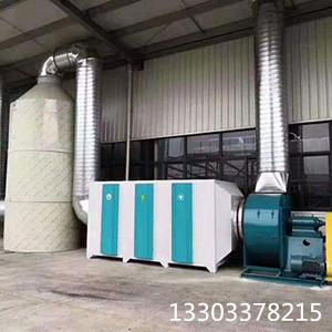 泊头铭慧新型高效废气处理喷淋塔光氧催化成套设备设计安装