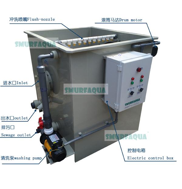 渔悦 转鼓式微滤机工厂化水产养殖过滤设备