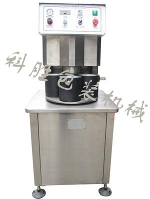 邯郸科胜半自动四工位真空旋盖机 笋菇酱菜真空旋盖机